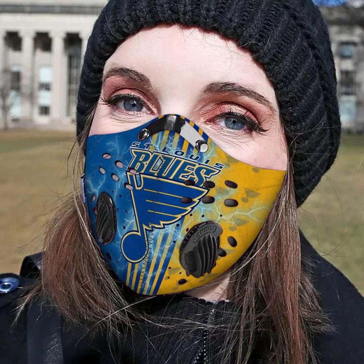St louis blues filter face mask - Picture 1