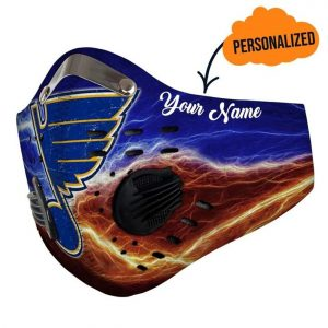 St louis blues personalized custom name filter face mask