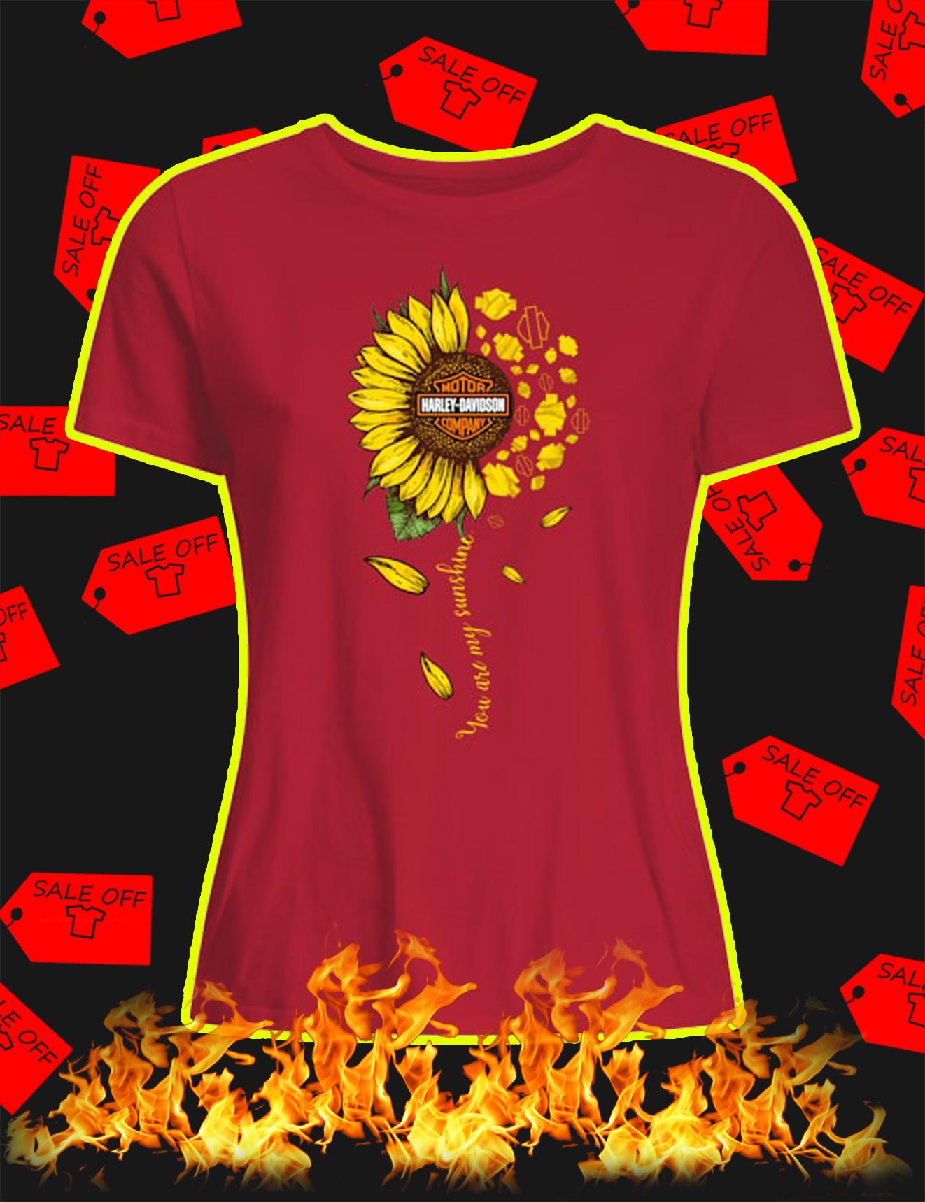 Sunflower you are my sunshine harley davidson women shirt