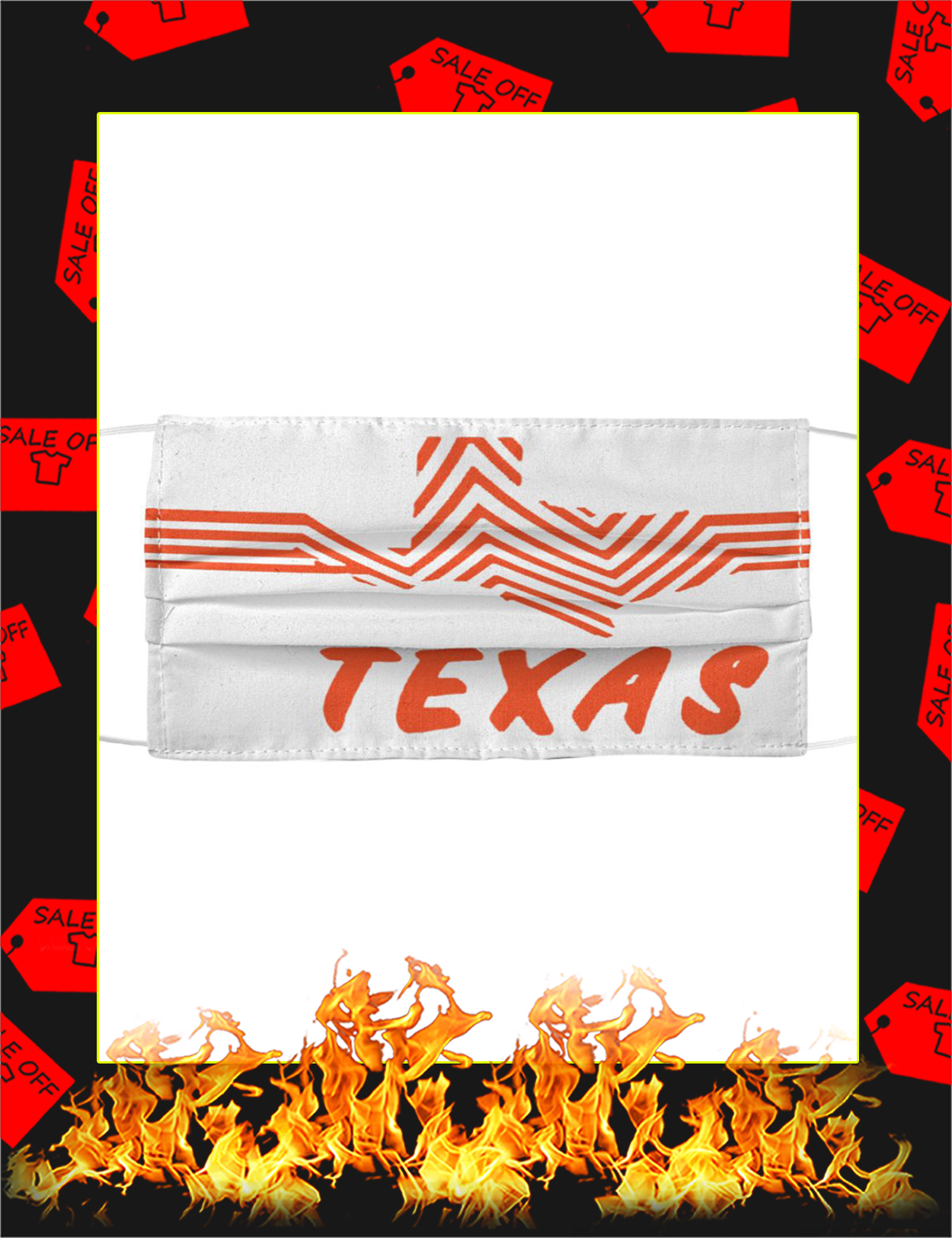 Texas Whataburger Cloth Face Mask - Picture 1
