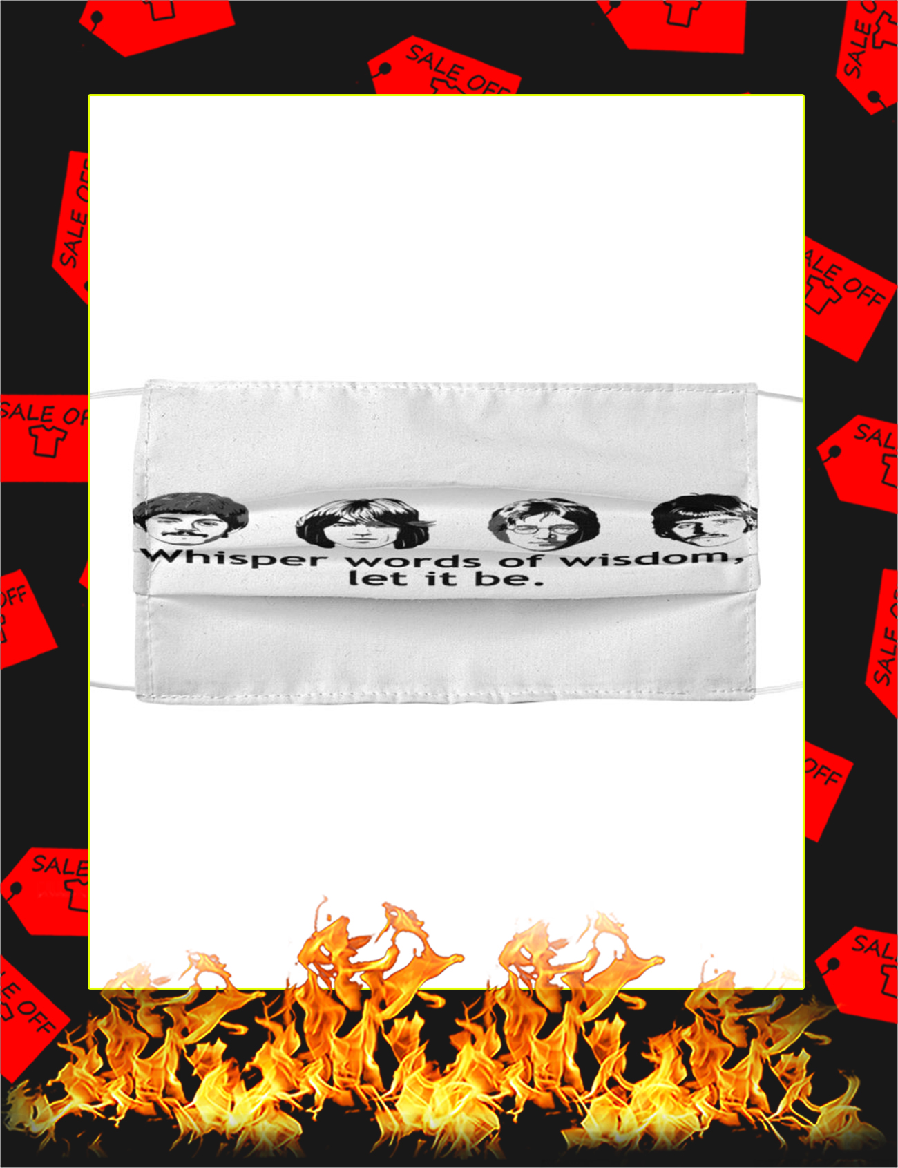 The Beatles Let It Be Cloth Face Mask - Picture 1