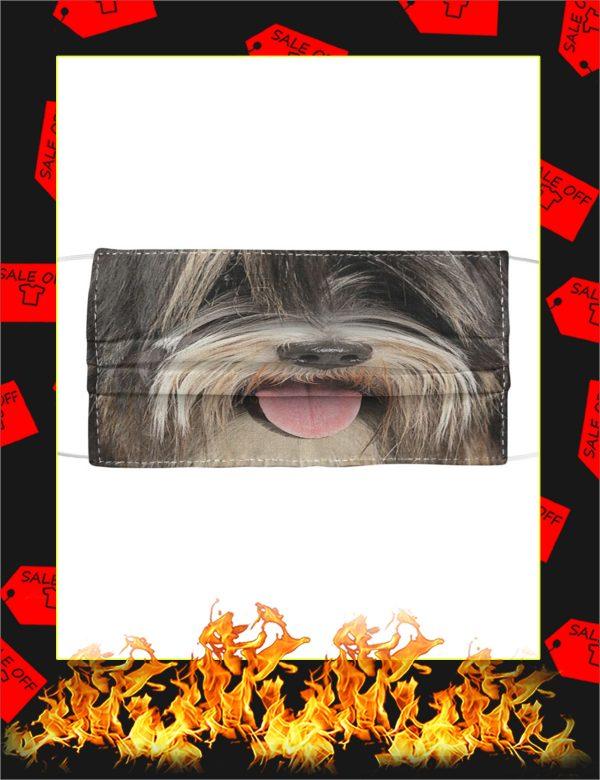 Tibetan Terrier Cloth Face Mask