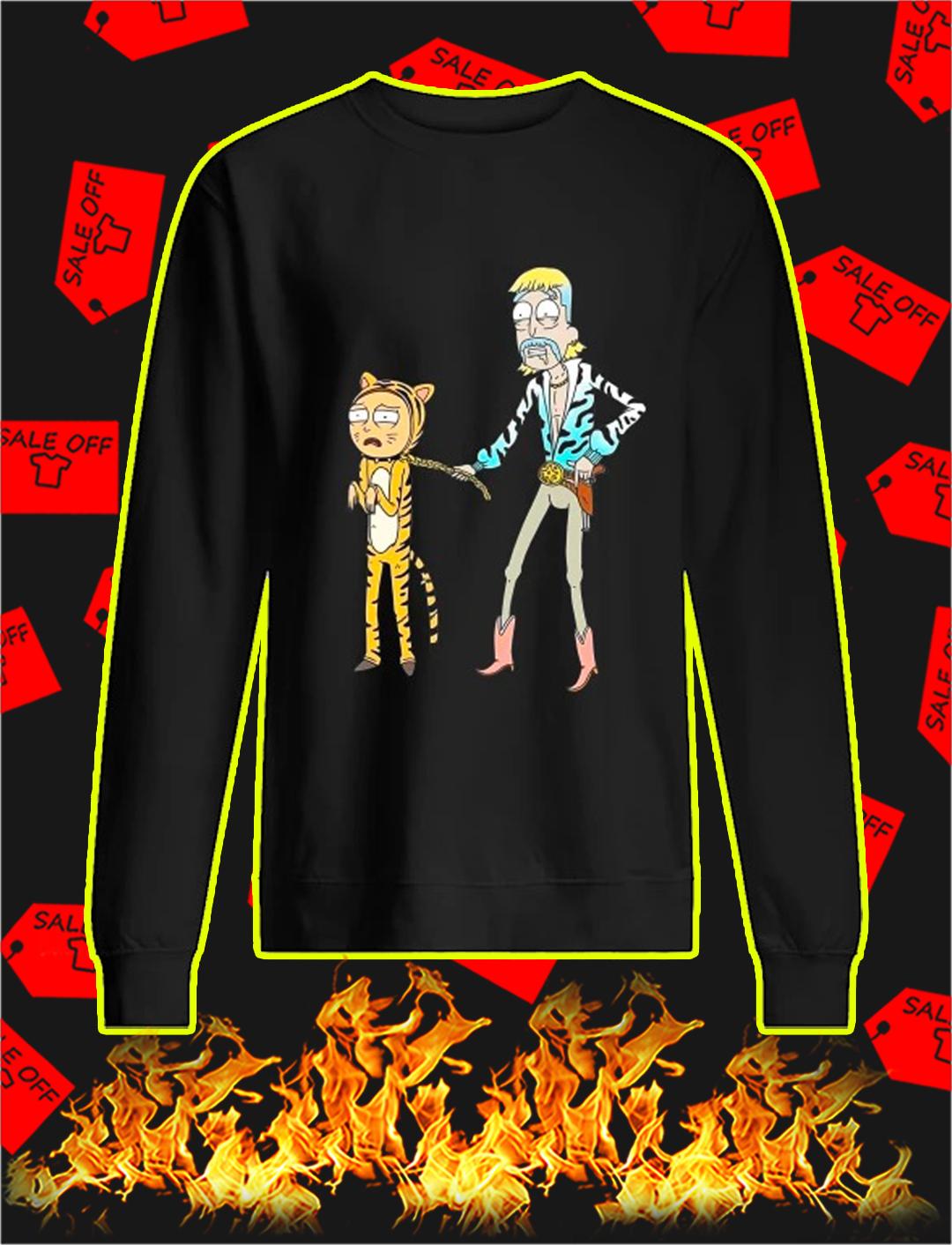 Tiger King Rick and Morty sweatshirt