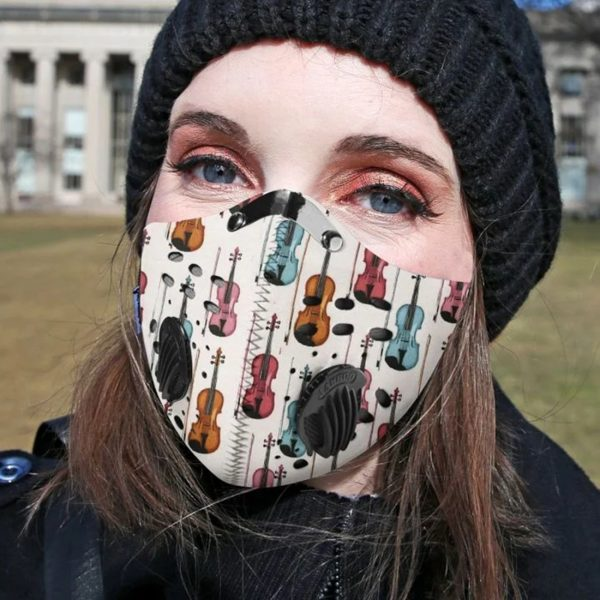 Violin filter face mask