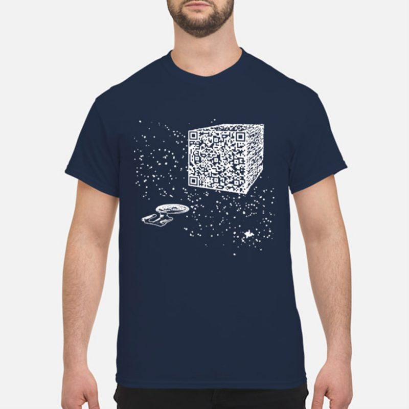 We are the borg cube qr code shirt