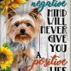 Yorkshire A negative mind will never give you a positive life poster