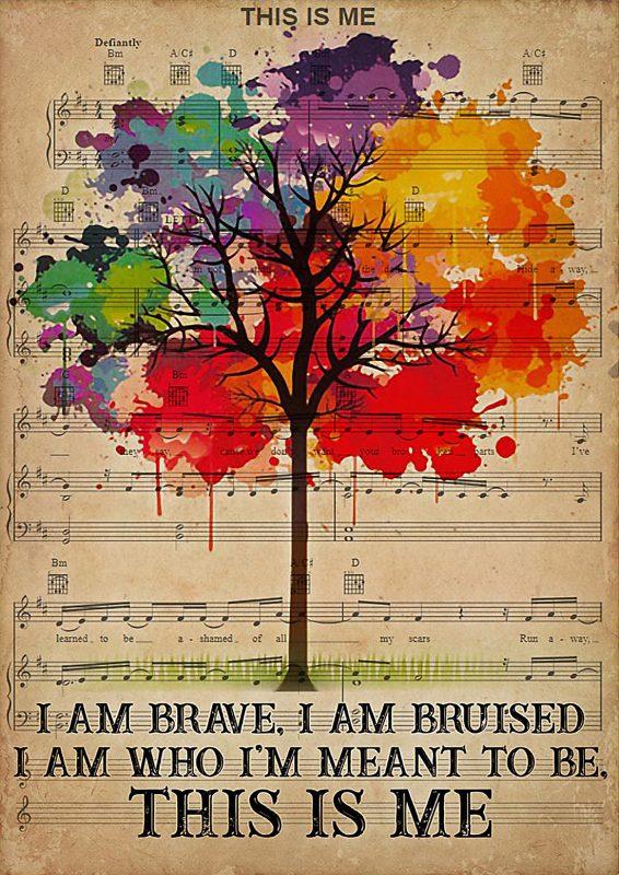 LGBT I am brave I am bruised poster