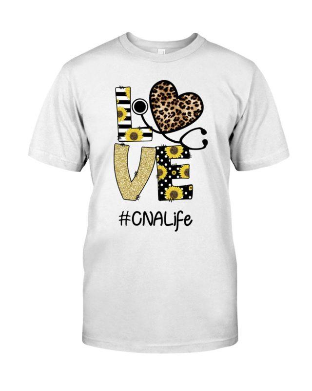 Stethoscope love CNA life shirt