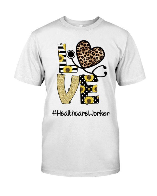 Stethoscope love heathcare worker shirt