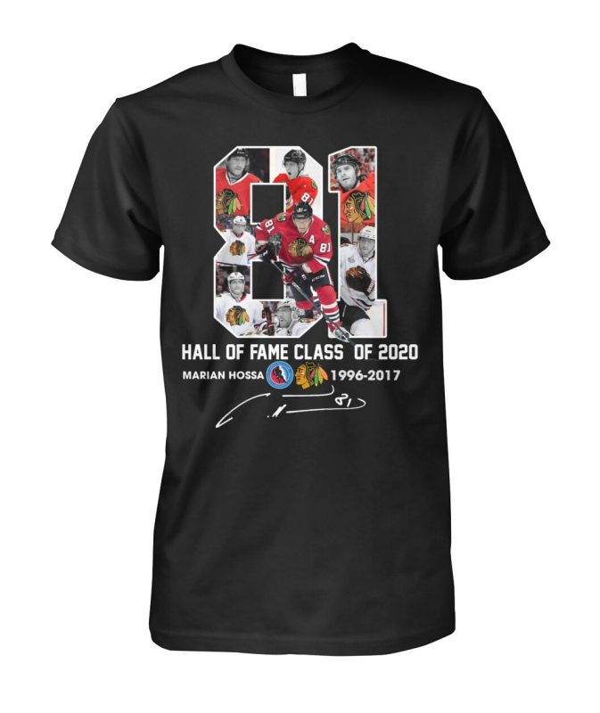 Hall of fame class of 2020 marian hossa 1996 2017 signature shirt