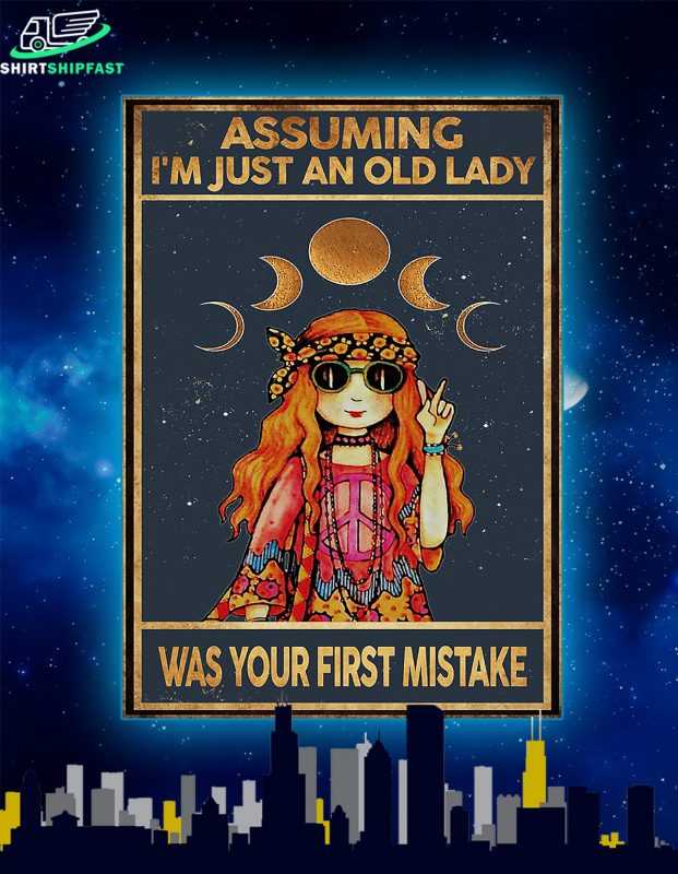 Hippie assuming i'm just an old lady was your first mistake poster
