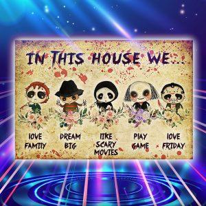 Horror killer in this house we poster