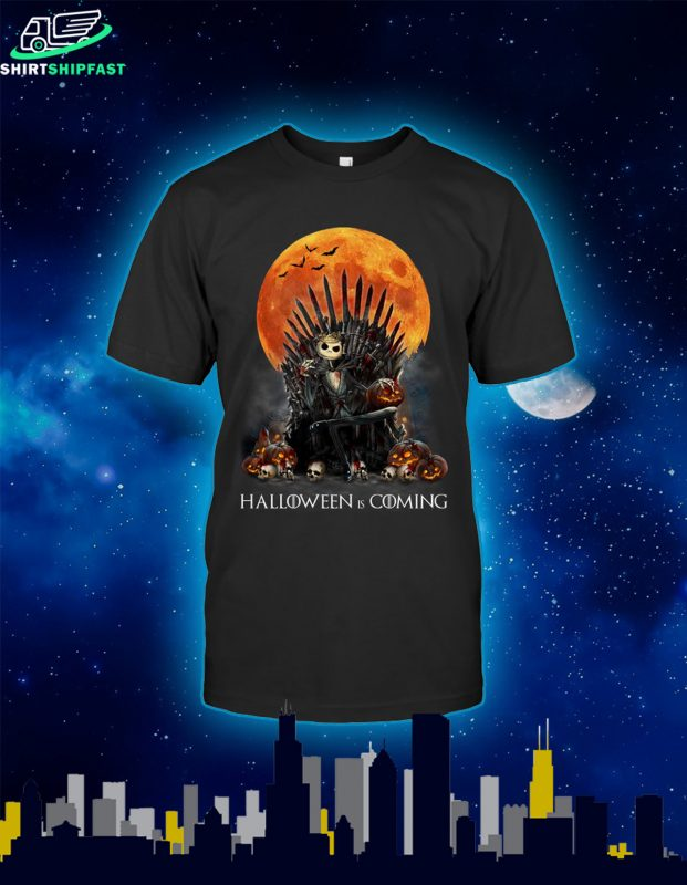 Jack skellington halloween is coming shirt