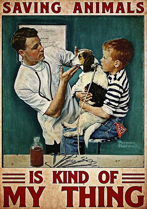 Saving animals is kind of my thing veterinarian poster
