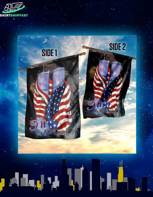 September 11th we will never forget flag