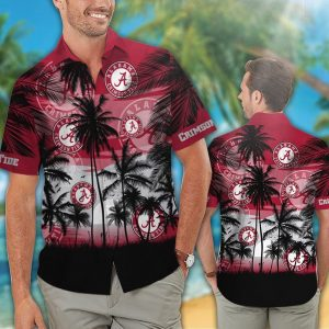 Alabama Crimson Tide tropical hawaiian shirt - Picture 1