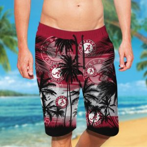 Alabama Crimson Tide tropical hawaiian shirt - Picture 2