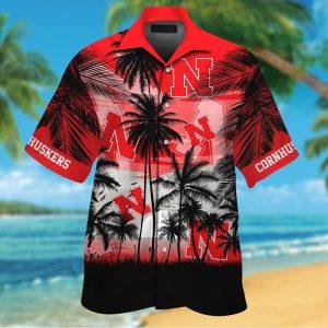 Nebraska Cornhuskers tropical hawaiian shirt