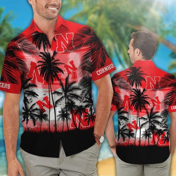 Nebraska Cornhuskers tropical hawaiian shirt - Picture 1