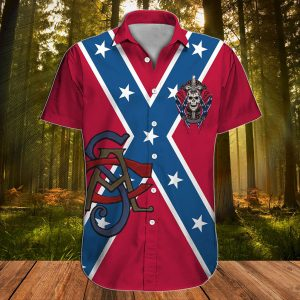 Southern Confederate Flag Proud descendant of a confederate soldier hawaiian shirt - Picture 1