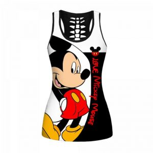 Love Mickey Mouse all over print hollow tank top and legging - Picture 1