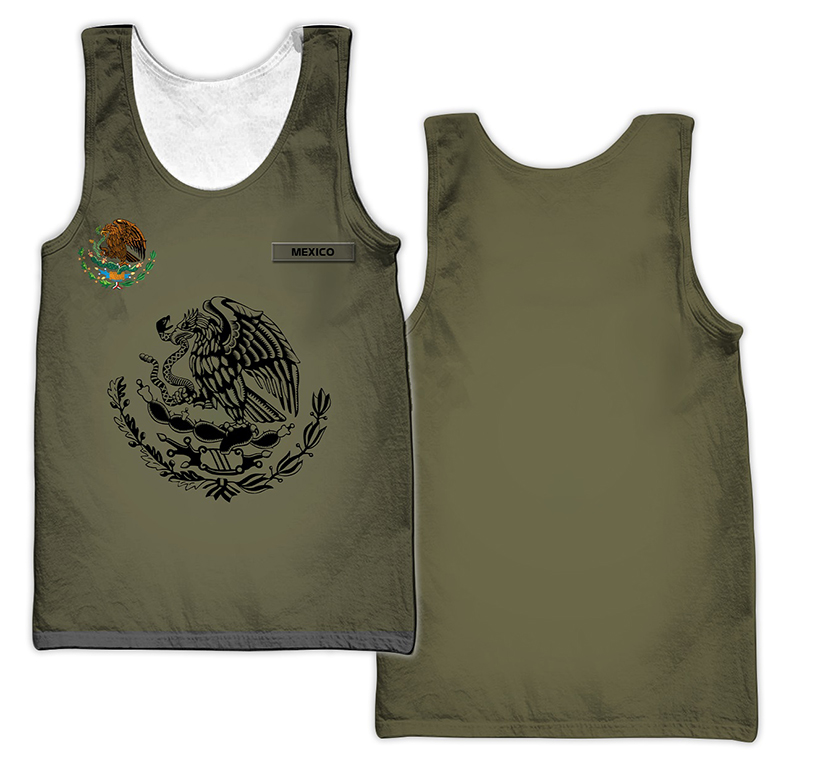 Personalized Mexican 3d all over printed tank top