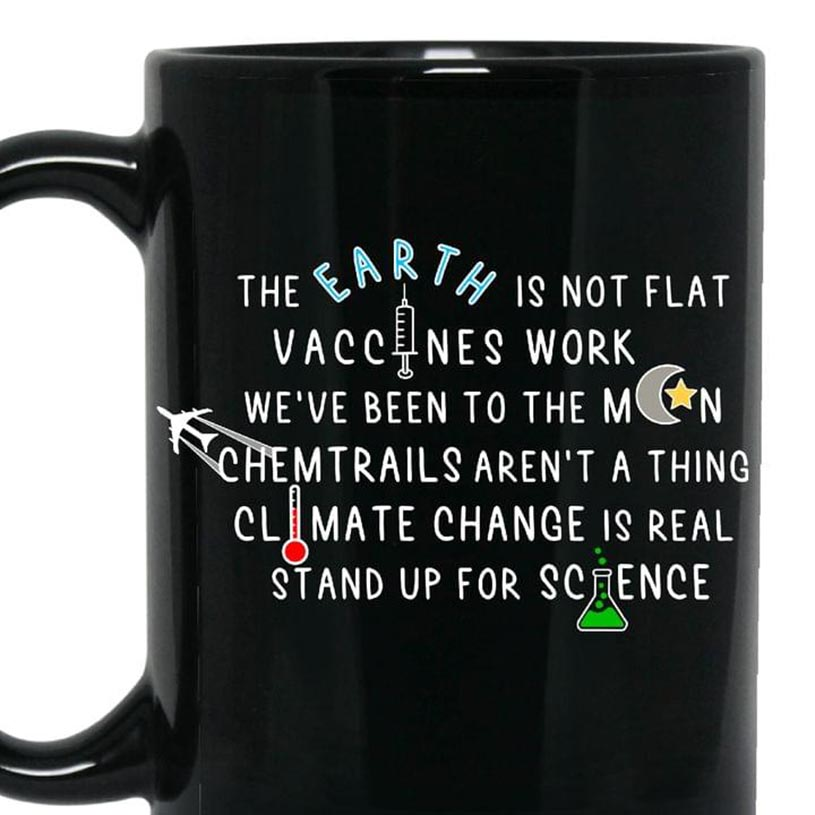 The earth is not flat vaccines work mug - Picture 3